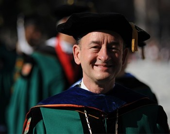 Wrighton in academic dress for Commencement