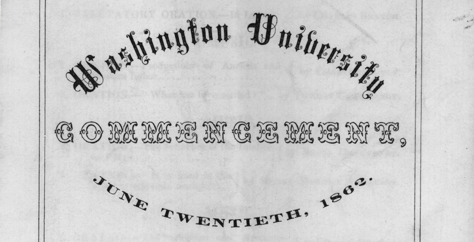 Commencement program from 1962
