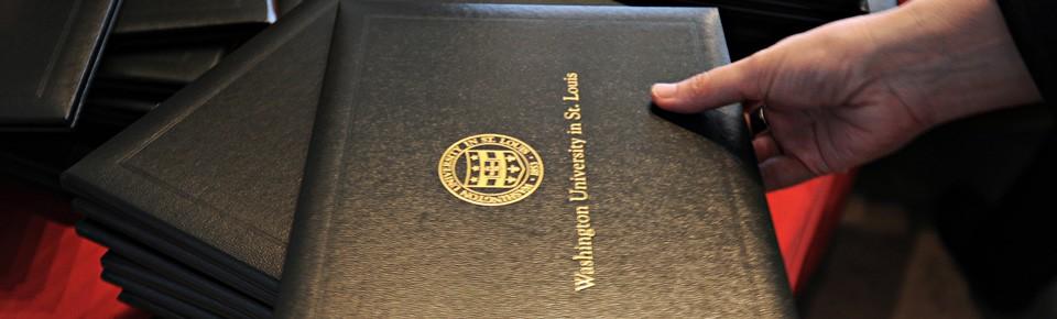 WUSTL diploma cover
