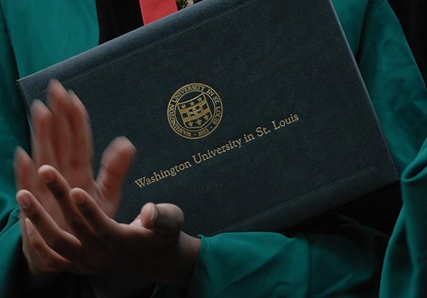 WUSTL diploma recipient
