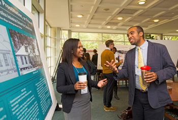 """Henley presented her research entitled, """"'Destined for Pregnancy, Prostitution, or Prison': Negotiating Identity at the North Carolina Industrial School for Colored Girls,"""" in Oct. 14 Undergraduate Research Symposium in Washington University's Olin Library."""