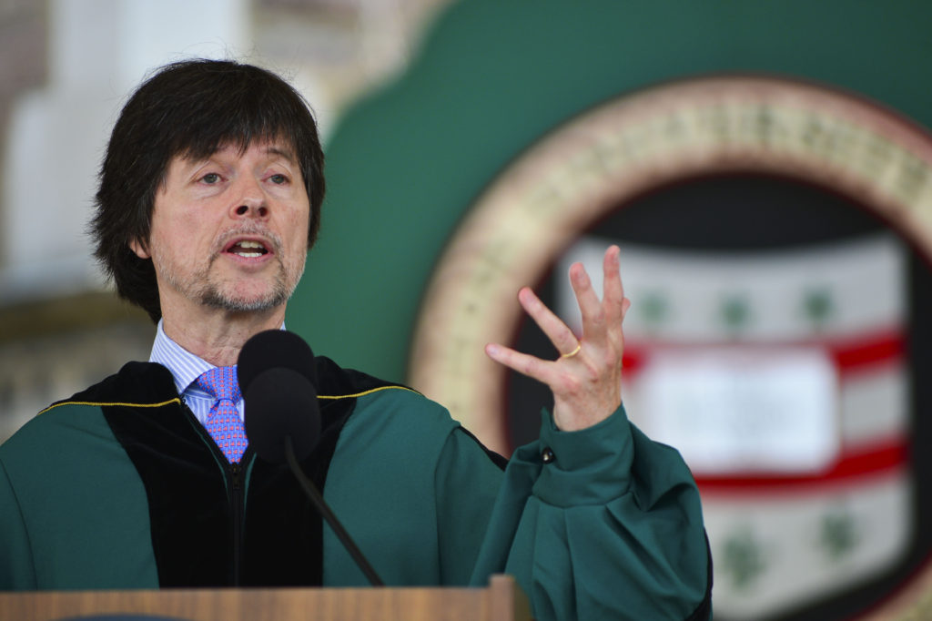 """5.15.2015--154th Commencement Ceremonies held in the Quad of the Danforth Campus of WUSTL. Chancellor, Mark S. Wrighton. Chair of the Board of Trustees, Craig D. Schnuck. Commencement Address, Ken Burns, filmmaker. Honorary Degree Recipients: Ken Burns, Doctor of Humanities; Mary-Dell Chilton, Doctor of Science; Gerald D. Feshbach, Doctor of Science; Herbie Hancock, Doctor of Humane Letters; Susan Andrea Talve, Doctor of Humane Letters. Grand Marshall, Robert E. Wiltenburg. Honorary Grand Marshal, Ronald G. Evans. Senior Class President, Jeremy Sherman. Vocalists: """"America the Beautiful"""", Benjamin Kweskin; """"Alma Mater"""", Anthony Tomassini. Photos by: Joe Angeles/WUSTL Photos"""