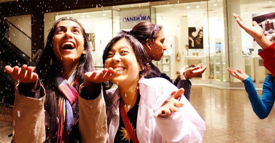 "Throwback Thursday: ""Galleria Snow"":  Midterms, 2011"
