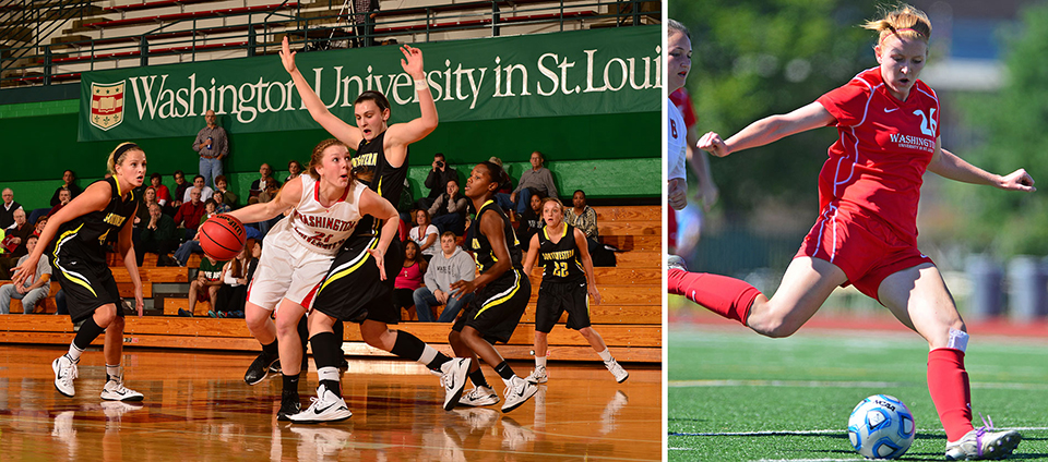 Turning pro: Two WashU Bears about to embark on professional careers — on the court and on the field