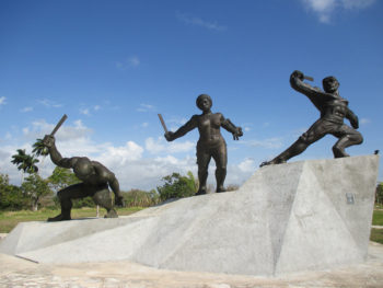 """""""Slave Rebel Monument"""" in Triunvirato, Matanzas commemorates the insurgent slaves who took part in a series of slave rebellions in the region in 1843. Sotelo Eastman's research examines the black press' role in abolishing slavery in Cuba."""